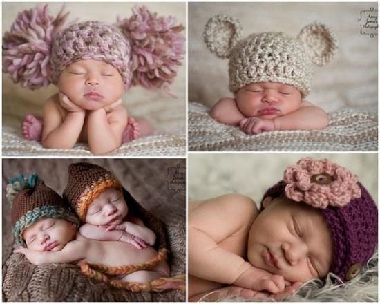 Вязаные чепчики на новорожденного своими руками
