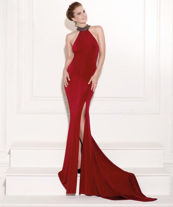 0d1534709878c kırmızı derin yırtmaçlı sırt dekolteli şık abiye elbise