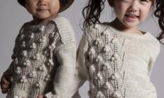 Çocuklara Renkli Örgü Kazaklar