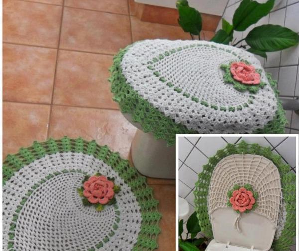 Вяжем крючком коврики для ванной комнаты 198