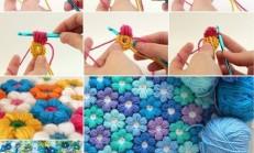 Rengarenk Çiçekli Bebek Battaniyesi