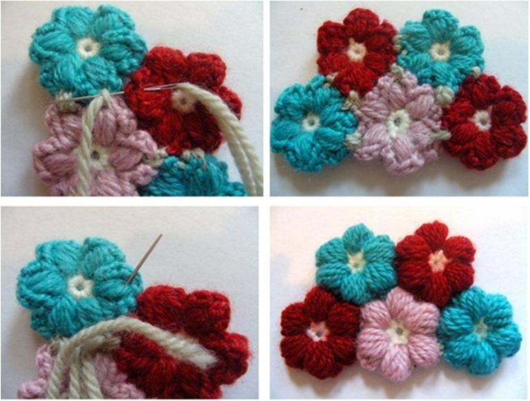 Rengarenk Çiçek Desenli Bebek Battaniyesi