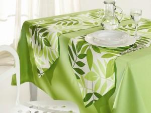 Yeşil runner masa örtü dizayn