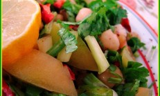 Elma Sirkeli Nohut Salatası Tarifi