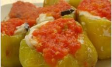 Labne Peynirli Kızartılmış Biber Dolması Tarifi
