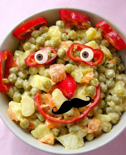 mayonezli rus salatası