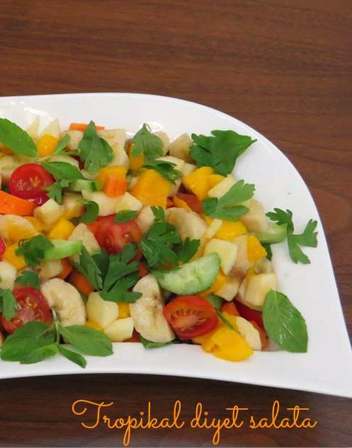 naneli diyet meyve salatası