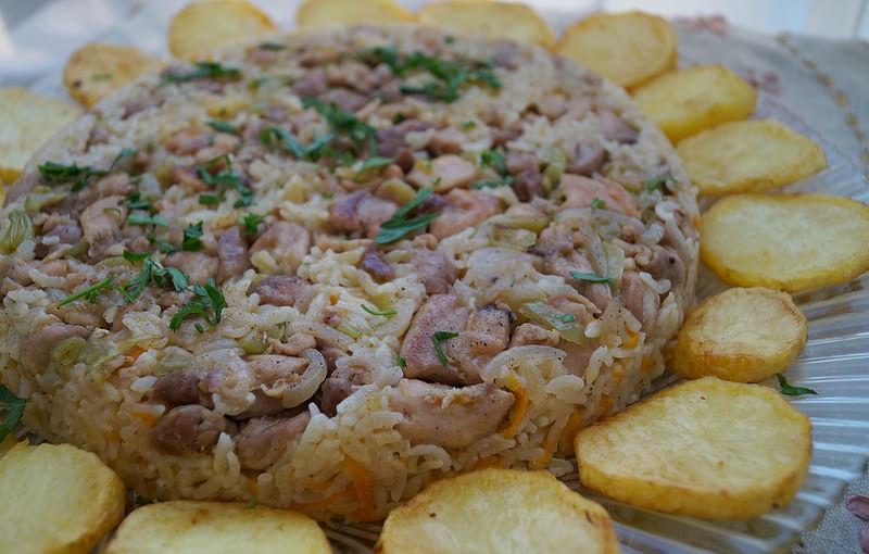 patates halkalı tavuklu pilav tarifi
