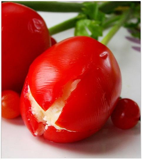 patates ve domates ile şekilli soğuk meze tarifi