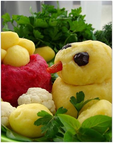 sebzeden civciv salatası