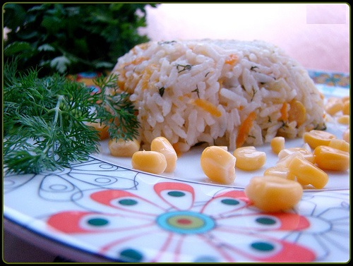 tereyağlı ve mısırlı pilav