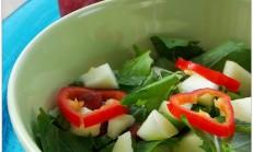 Yeşil Elmalı Kuzukulağı Salatası Tarifi