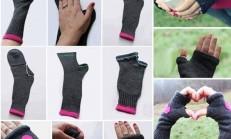 Çoraptan Parmaksız Eldiven Yapılışı