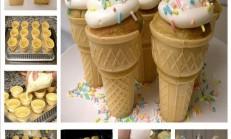 Dondurma Külahında Kremalı Kek