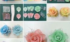 Plastik Poşetlerden Süslemelerde Kullanılacak Çiçek Yapılışı