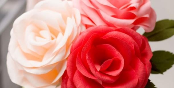 Oluklu Kağıttan Harika Güller Yapalım