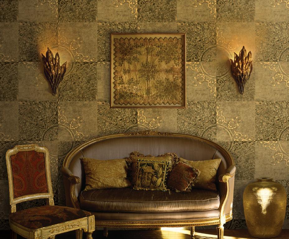 Klasik Salonlar için İthal Duvar Kağıdı Modelleri