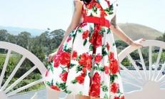 2014  Çiçek Desenli  Elbise Pantolon Modelleri